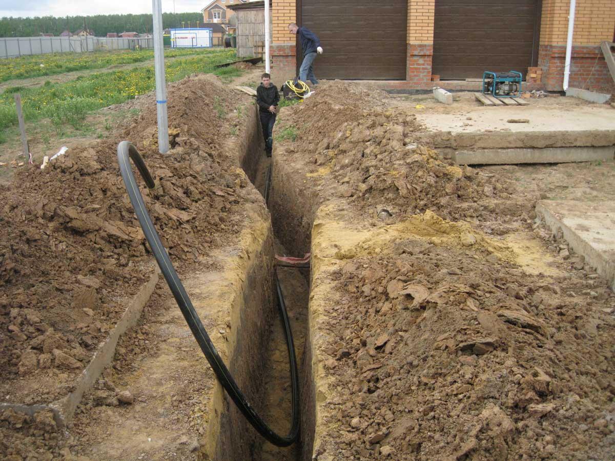 Водопровод в частный дом от центрального водопровода