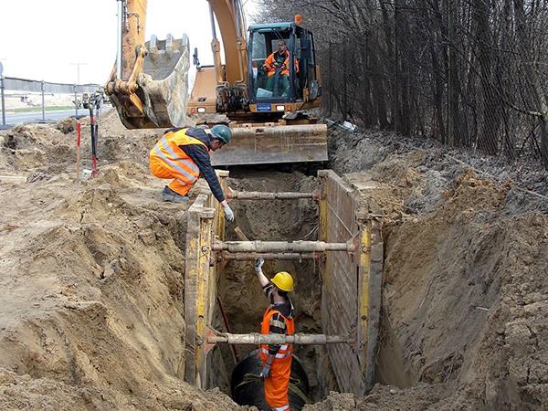 Как происходит прокладка наружных сетей водоснабжения