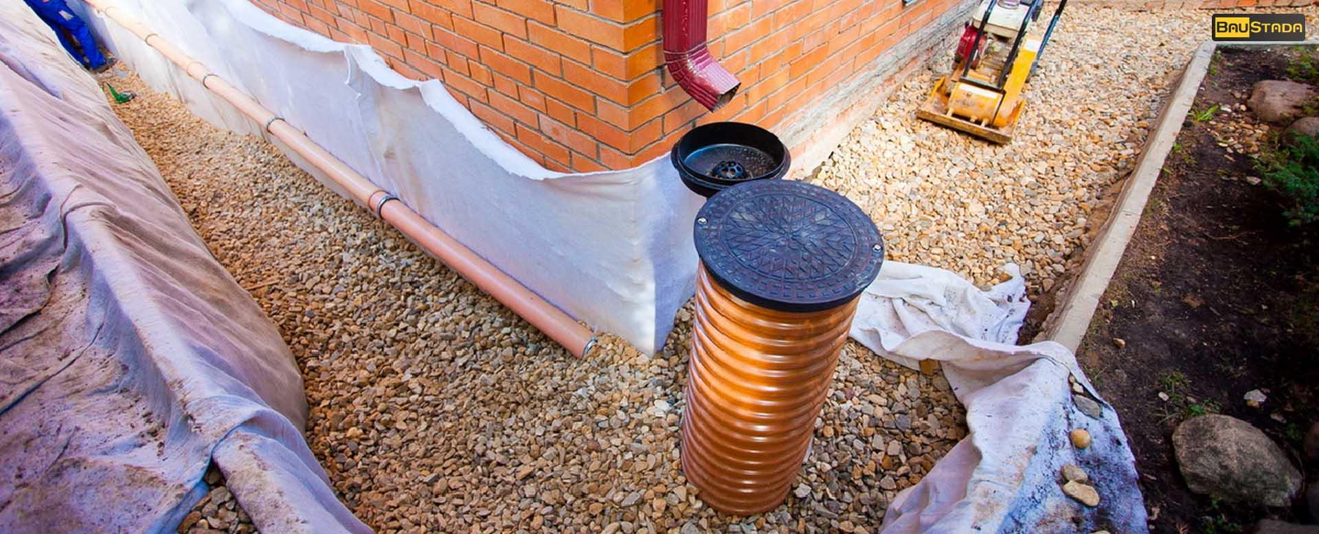 монтаж труб ливневой канализации
