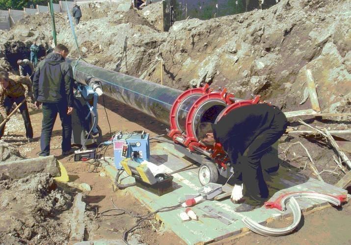 монтаж наружных сетей водоснабжения