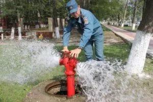 внешние системы противопожарного водоснабжения