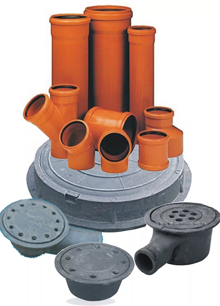 Составляющие наружной канализации