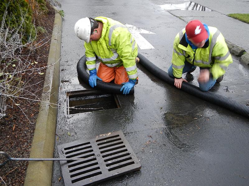 Экстренная прочистка ливневой канализации