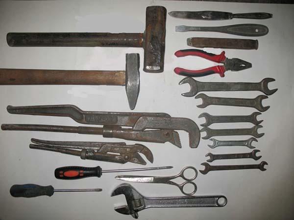 Инструменты для ремонта водопровода