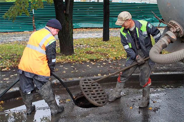 очистка закрытой ливневой канализации