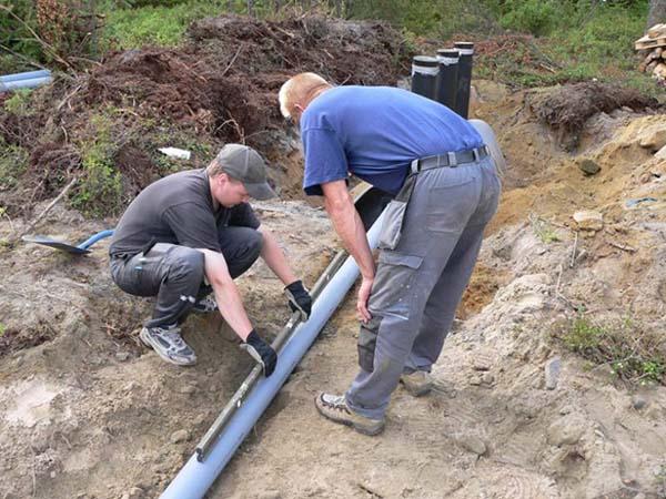 Установка наружной канализации
