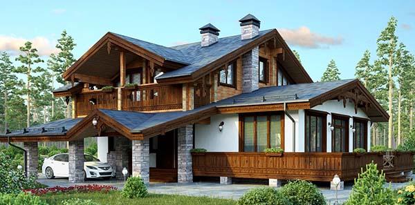 Дом, построенный совместно с баней