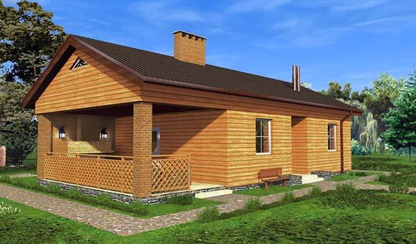дом совместно с баней