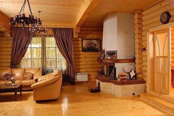 Баня внутри дома