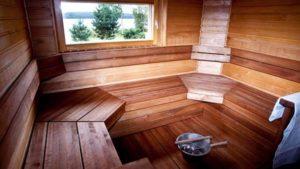 Полки в бане: как правильно сделать