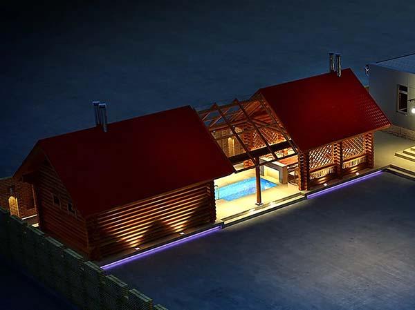 Баня под одной крышей с домом