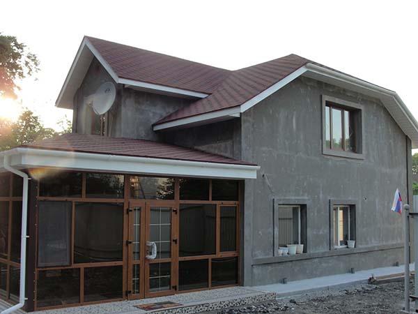 двухэтажный дом с фундаментом