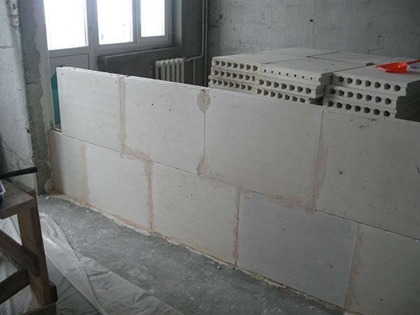 стена из гипсовых плит