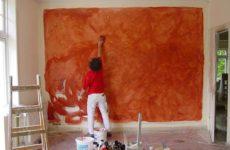 Покраска стен: способы и материалы