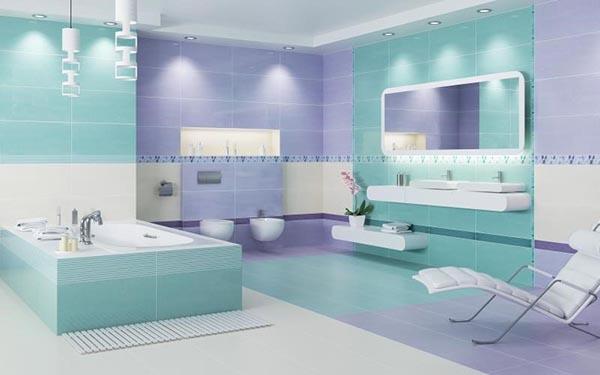 ванная в мягких тонах