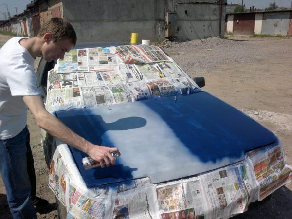 Покраска баллончиком: как правильно выполнить