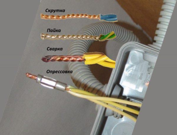 методы соединения проводов